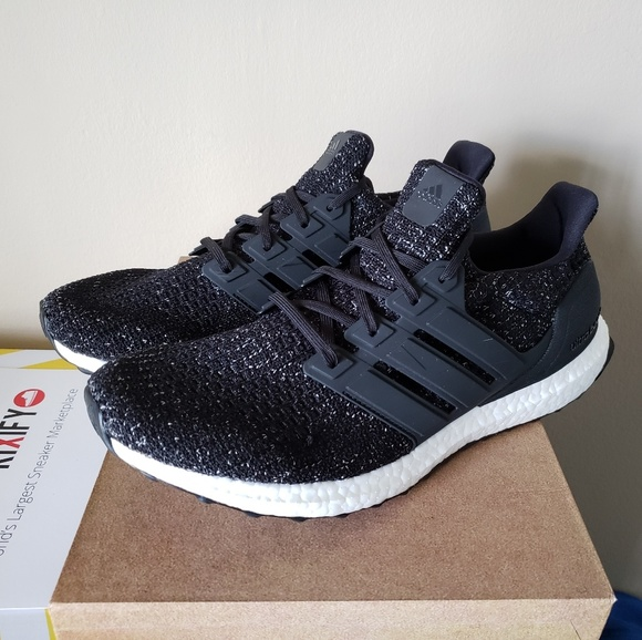 ❤ Adidas Ultraboost 4.0 Black White Speckle